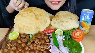 ASMR:CHOLE BHATURE *RECIPE*+EATING CHOLE BHATURE (STREET FOOD) VEGETARIAN FOOD MUKBANG
