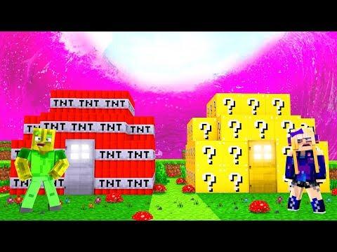 TNT HAUS vs. LUCKY BLOCK HAUS - Minecraft TSUNAMI