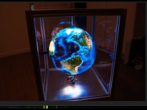Advanced POV LED globe with VIDEO support!