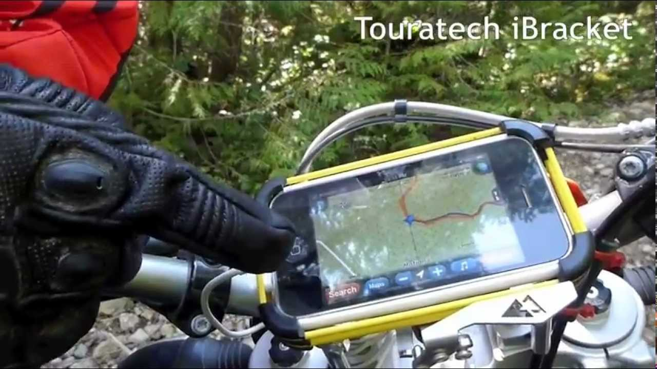 Icon justice leather motorcycle gloves - Icon Justice Touchscreen Gloves Touratech Ibracket And Motionx Match Made For Navigation