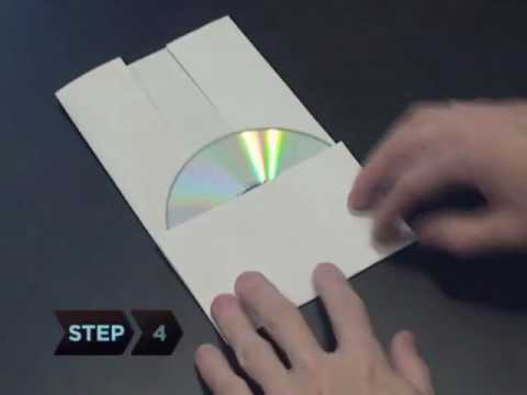 How To Make A Cd Or Dvd Case Out Of A Piece Of Paper - Youtube