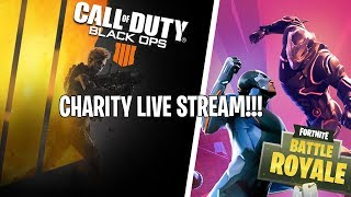 🔴 COD Blackout/Fortnite Battle Royale Charity Live Stream!!! | 7,500 v-bucks Giveaway