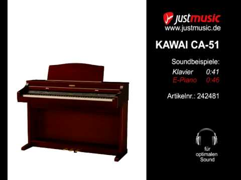 digitalpiano kawai ca 51 piano e piano sound youtube. Black Bedroom Furniture Sets. Home Design Ideas