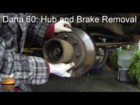 Dana 60 Axle: Hub and Brake Disc Removal How-To - YouTube