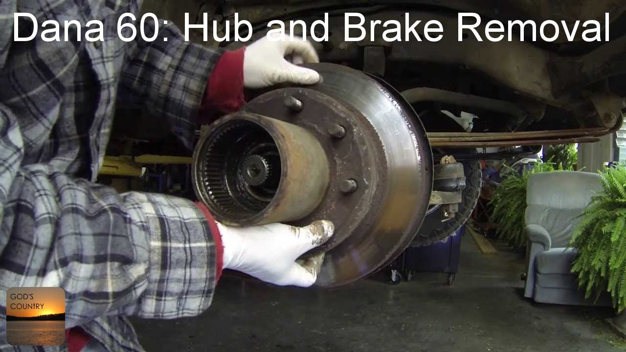 Ford Super Duty Rear Wiring Diagram Dana 60 Axle Hub And Brake Disc Removal How To Youtube
