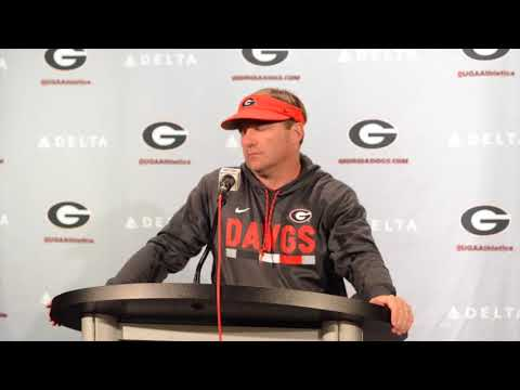 UGA coach Kirby Smart Wraps Up Spring Practice on April 19, 2018