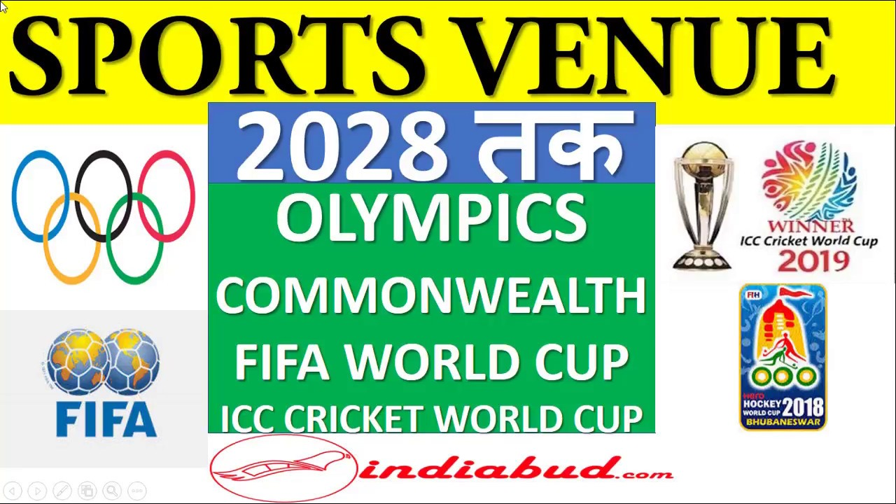 Sports Venue till 2028 (1 Marks Question) for Every Exams l रेलवे , बैंक और SSC exams के लिए