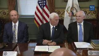 Vice President Mike Pence Participates in a Listening Session with the Philanthropy Roundtable