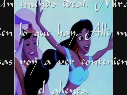 Un mundo ideal - David Bustamante y Gisela (Aladdin) [Letra] [HD]