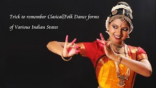 Trick To Remember the dance Forms of Indian States Part 1