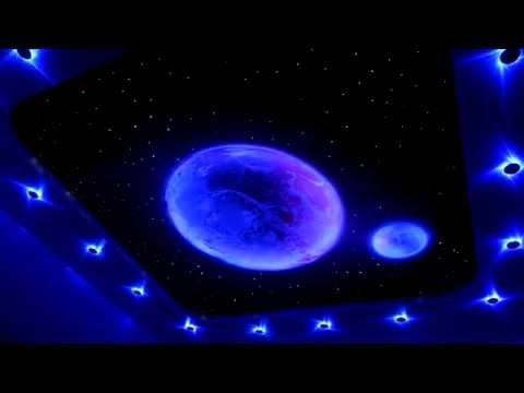 Супер красивый натяжной потолок Звездное небо .Super beautiful ceiling starry sky