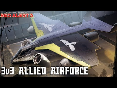 Red Alert 3 - 3v3 Allied Airforce - Red Alert 3 Multiplayer Gameplay