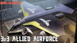 Red Alert 3 - 3v3 Allied Airforce - Red Alert 3 Multiplayer Gameplay