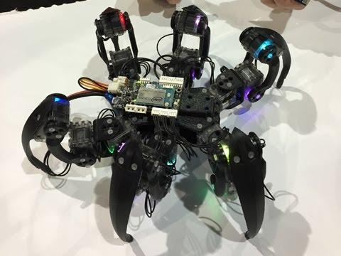 Intel's Hexapod Robot Dances in the Desert at IMS 2015