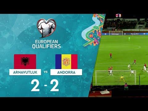 Arnavutluk 2-2 Andorra | EURO 2020 Elemeleri Maç Özeti - H Grubu