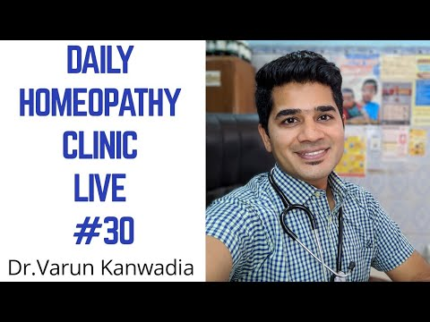 DAILY HOMEOPATHY CLINIC LIVE #30