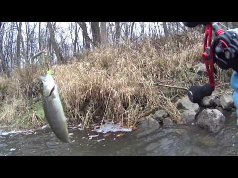 Winter Trout fishing  in  Racine WI