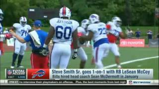 Steve Smith Sr. goes 1-on-1 with RB LeSean McCoy | NFL Total Access