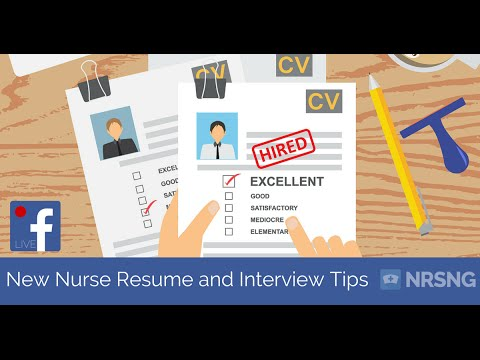 How To Get A Job In The ICU As A New Grad Nurse (resume And Interview Tips  For Nursing Students)   YouTube  Graduate Nurse Resume