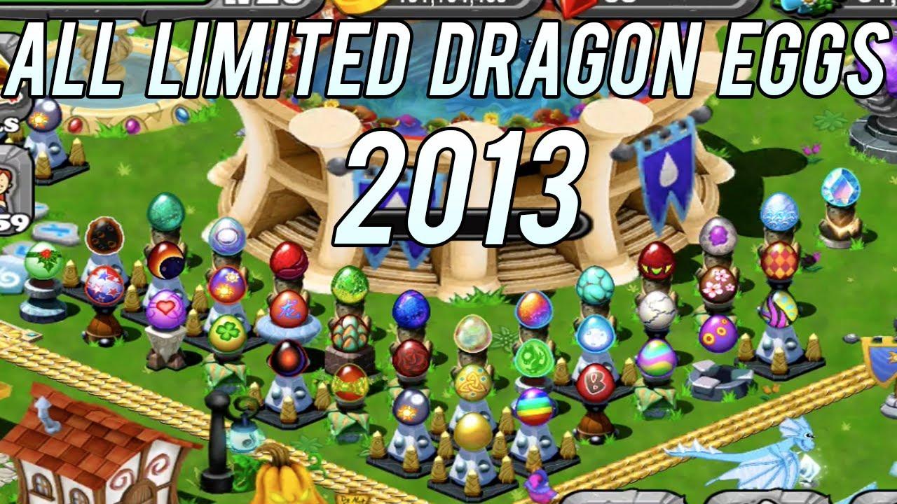 ALL LIMITED Dragon EGGS 2013 in DragonVale! April