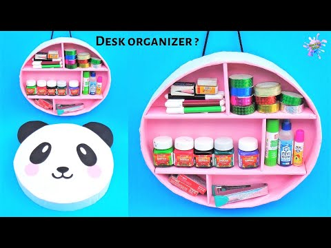 How to make Desk Organizer at home | Best out of waste | DIY wall hanging shelf