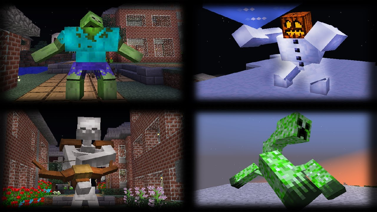 Mowzie's Mobs vs Mutant Creatures in Minecraft