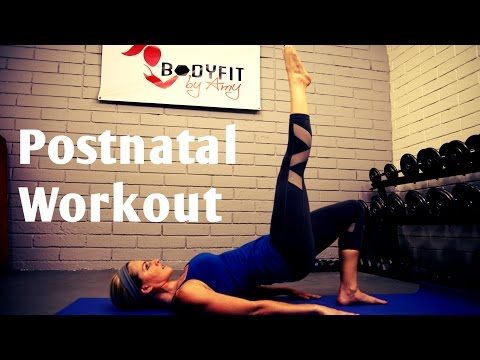 30 Minute Post Natal Workout—-Burn Fat and Tone Up after Pregnancy