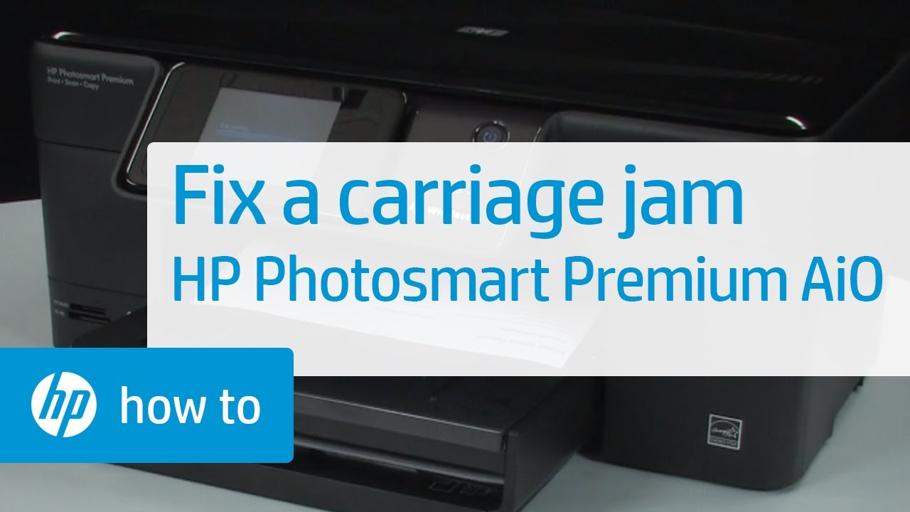 fixing a carriage jam hp photosmart premium all in one printer rh youtube com hp photosmart premium c309g service manual hp photosmart premium c309g-m printer manual
