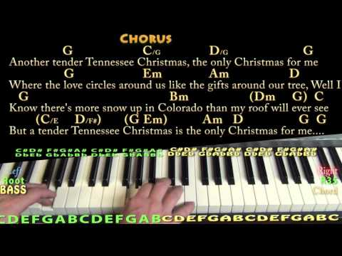 Tennessee Christmas (Alabama) Piano Cover Lesson in G with Chords/Lyrics