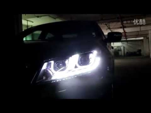 2008 2012 Honda Accord Angel Eye Headlight Youtube