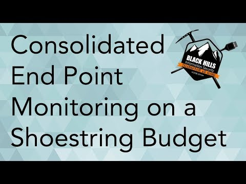 How To Do Consolidated End Point Monitoring on a Shoestring Budget