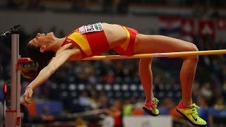 Ruth Beitia attempts  at European Athletics indoor championship BELGRADE 2017. High jump women
