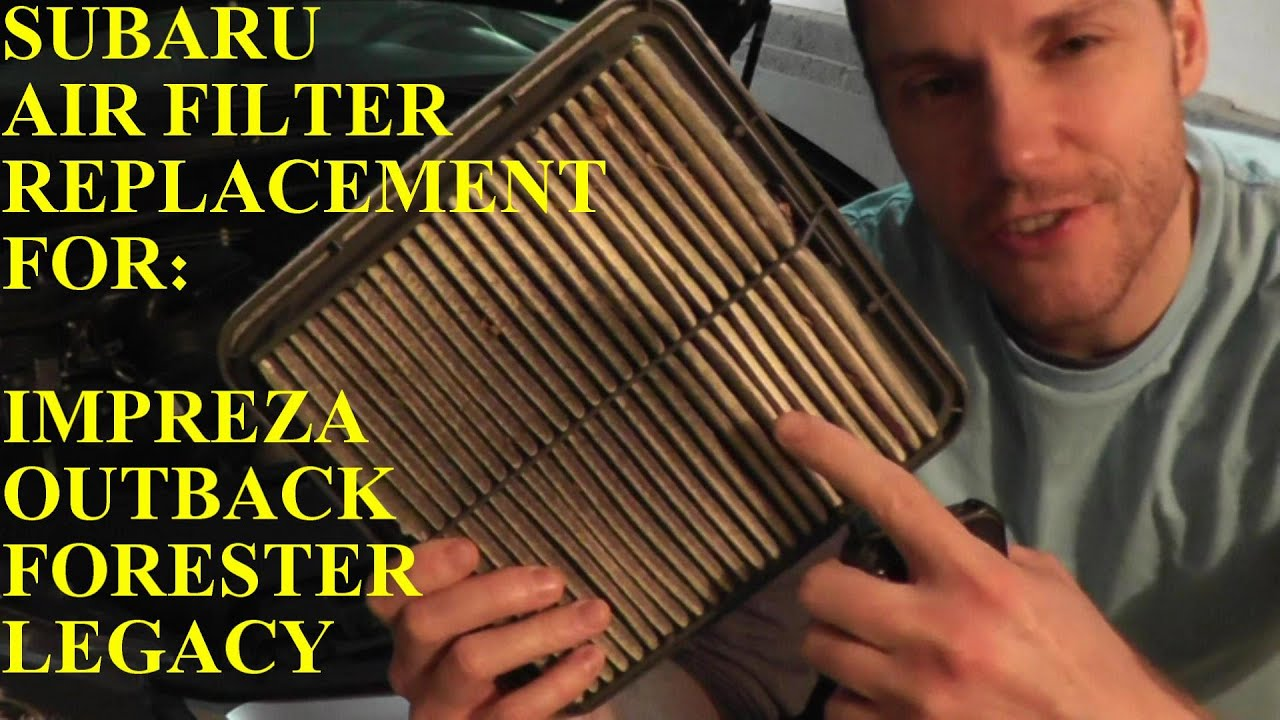 How To Install Replace Air Filter Element Subaru Impreza 25l Youtube 2006 Wrx Fuel Location
