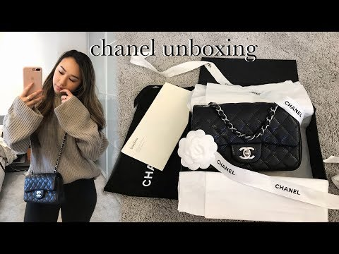 CHANEL UNBOXING: RECTANGULAR MINI BLACK CAVIAR SHW (PRELOVED, CHATTY) | heycarmen