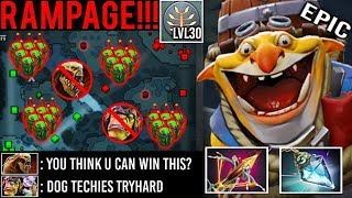 BALLISTA + RAPIER TECHIES RAMPAGE 30 Level Full Bomb -50% CD Crazy Def Enemy Can't Push 7.23 Dota 2