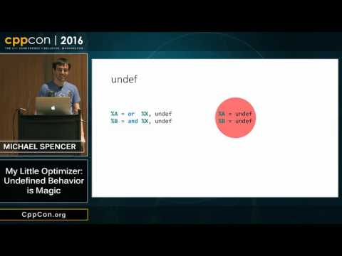 "CppCon 2016: Michael Spencer ""My Little Optimizer: Undefined Behavior is Magic"""