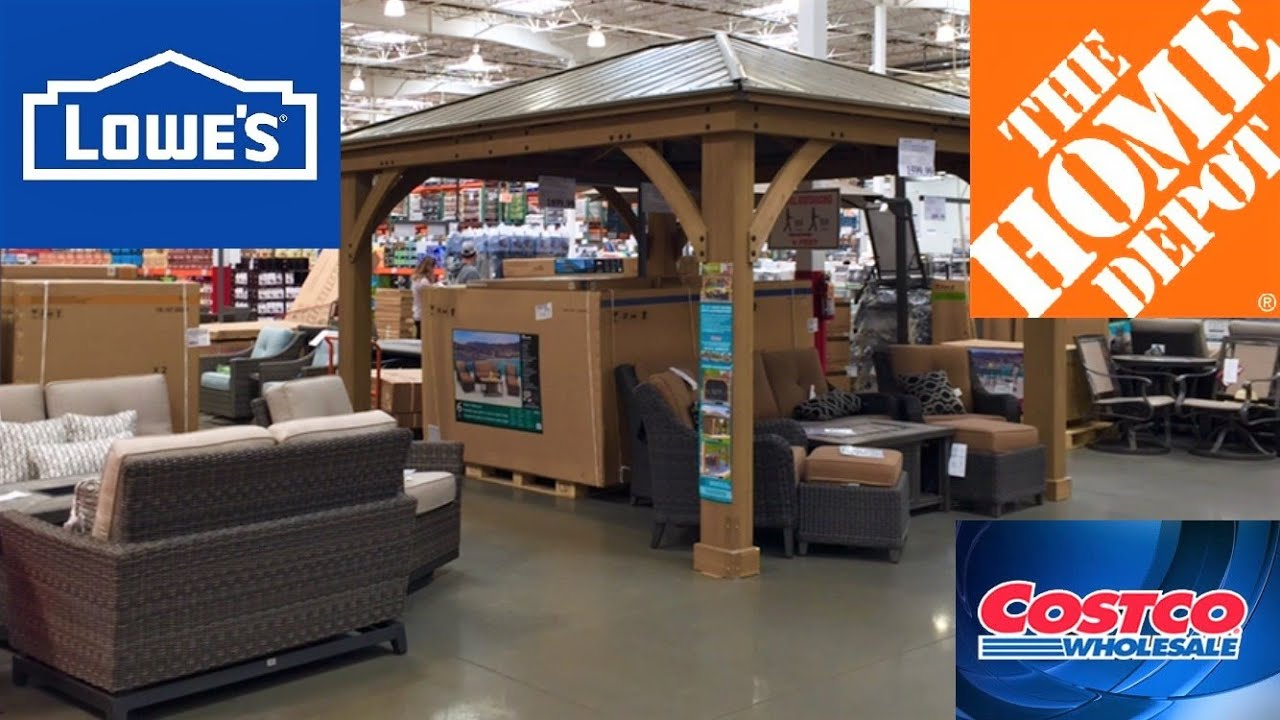 lowes home depot costco patio furniture sofas chairs decor shop with me shopping store walk through