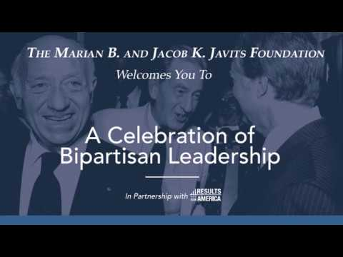 2017 Jacob K. Javits Prize for Bipartisan Leadership