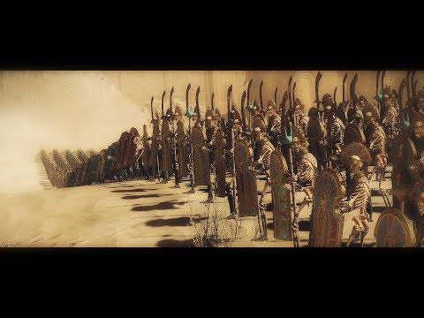 Tomb Kings Vs Dark Elves | Epic cinamatic battle Total War Warhammer 2