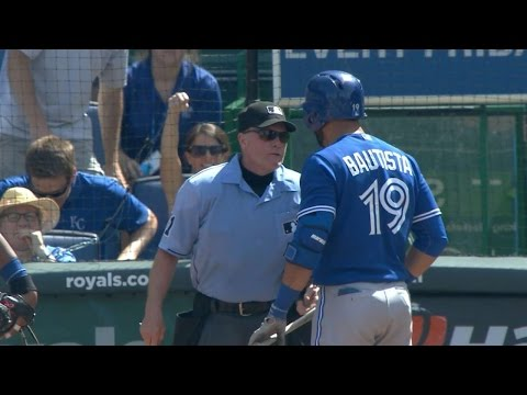Bautista tossed for arguing balls and strikes
