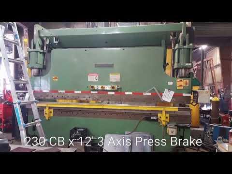 Cincinnati CB 230x12, 3 Axis Press Brake
