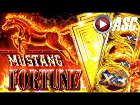 *NEW SLOT! BIG WIN!* MUSTANG FORTUNE - Slot Machine Bonus (Ainsworth) - 동영상