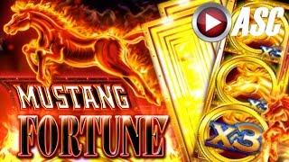 *NEW SLOT! BIG WIN!* MUSTANG FORTUNE | Slot Machine Bonus (Ainsworth)