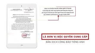 Bản dịch Công báo tiếng Anh từ TTXVN   LuatVietnam