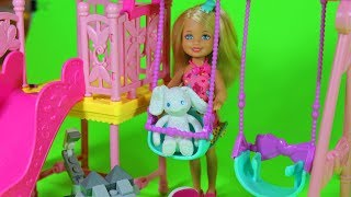 Barbie Chelsea Clubhouse Swing Set Playground By Kikiland!