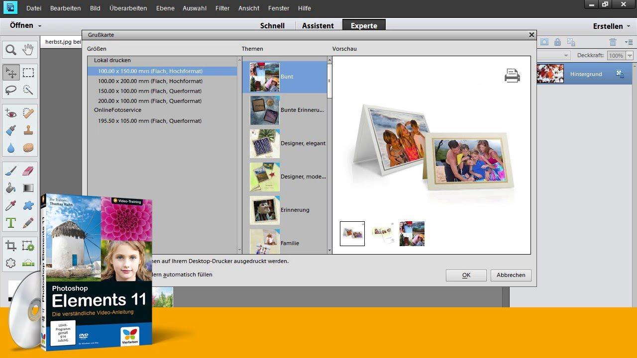 photoshop elements 11 eine gru karte selbst gestalten. Black Bedroom Furniture Sets. Home Design Ideas