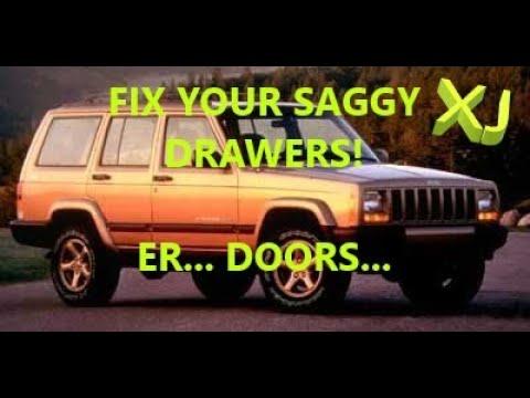 99 Jeep Cherokee Xj Door Hinge Replacement Youtube