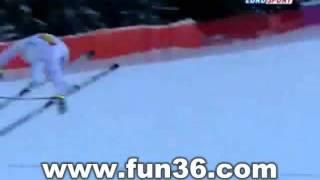 La chute du skieur David Poisson