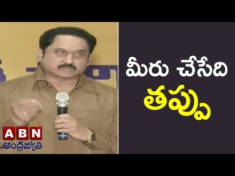Actor Suman Warns TV5 Anchor Sambashiva Rao For Commenting Lady Artists | ABN Telugu