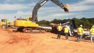 Flipping dump truck over part one